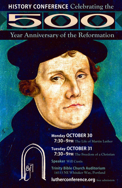 Martin Luther portrait - 2017 History Conference